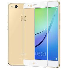 Huawei P10 Lite用強化ガラス フル液晶保護フィルム F03 ファーウェイ ホワイト