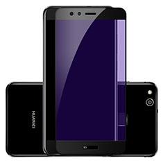 Huawei P10 Lite用強化ガラス フル液晶保護フィルム F02 ファーウェイ ブラック