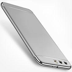 Huawei P10 Plus用ケース 高級感 手触り良い メタル兼プラスチック バンパー M01 ファーウェイ シルバー