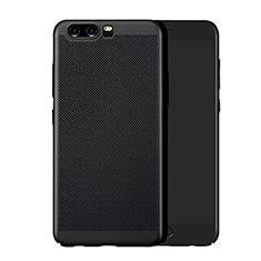 Huawei P10 Plus用ハードケース プラスチック メッシュ デザイン ファーウェイ ブラック