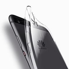 Huawei P10 Plus用極薄ソフトケース シリコンケース 耐衝撃 全面保護 クリア透明 T11 ファーウェイ クリア