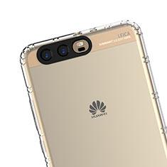 Huawei P10 Plus用極薄ソフトケース シリコンケース 耐衝撃 全面保護 クリア透明 T14 ファーウェイ クリア