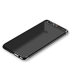 Huawei P10 Plus用極薄ソフトケース シリコンケース 耐衝撃 全面保護 クリア透明 S01 ファーウェイ ブラック