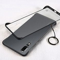 Huawei P20用ハードカバー クリスタル クリア透明 S03 ファーウェイ ブラック
