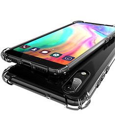 Huawei P20用極薄ソフトケース シリコンケース 耐衝撃 全面保護 クリア透明 H01 ファーウェイ グレー