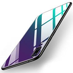 Huawei P20用ハイブリットバンパーケース プラスチック 鏡面 カバー ファーウェイ カラフル