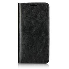 Huawei P20用手帳型 レザーケース スタンド カバー L05 ファーウェイ ブラック