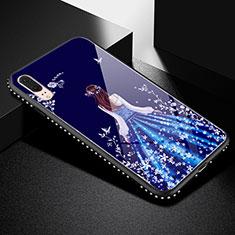 Huawei P20用ハイブリットバンパーケース プラスチック ドレスガール ドレス少女 鏡面 カバー ファーウェイ ブラック
