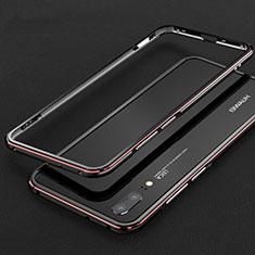 Huawei P20用ケース 高級感 手触り良い アルミメタル 製の金属製 バンパー カバー M01 ファーウェイ レッド・ブラック