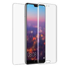 Huawei P20用強化ガラス 液晶保護フィルム 背面保護フィルム同梱 ファーウェイ クリア