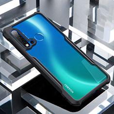 Huawei P20 Lite (2019)用ハイブリットバンパーケース クリア透明 プラスチック 鏡面 カバー H01 ファーウェイ ブラック