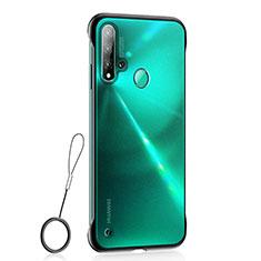 Huawei P20 Lite (2019)用極薄ケース クリア透明 プラスチック 質感もマットU01 ファーウェイ ブラック