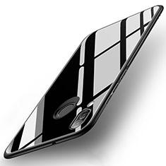 Huawei P20 Lite用ハイブリットバンパーケース プラスチック 鏡面 カバー ファーウェイ ブラック