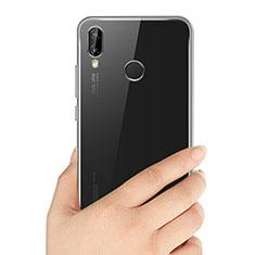 Huawei P20 Lite用極薄ソフトケース シリコンケース 耐衝撃 全面保護 クリア透明 T03 ファーウェイ クリア