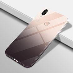 Huawei P20 Lite用極薄ソフトケース グラデーション 勾配色 クリア透明 G01 ファーウェイ ブラック