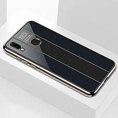 Huawei P20 Lite用ハイブリットバンパーケース プラスチック 鏡面 カバー M03 ファーウェイ ブラック