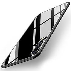 Huawei P20 Pro用ハイブリットバンパーケース プラスチック 鏡面 カバー ファーウェイ ブラック