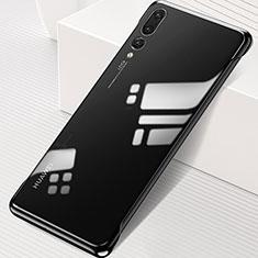 Huawei P20 Pro用ハードカバー クリスタル クリア透明 S06 ファーウェイ ブラック