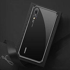 Huawei P20 Pro用極薄ソフトケース シリコンケース 耐衝撃 全面保護 クリア透明 S07 ファーウェイ ブラック