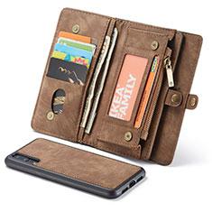 Huawei P20 Pro用手帳型 レザーケース スタンド カバー T03 ファーウェイ ブラウン