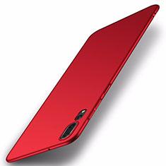 Huawei P20 Pro用ハードケース プラスチック 質感もマット カバー P01 ファーウェイ レッド