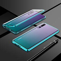 Huawei P20 Pro用ケース 高級感 手触り良い アルミメタル 製の金属製 360度 フルカバーバンパー 鏡面 カバー T06 ファーウェイ グリーン