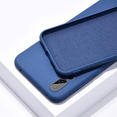 Huawei P20 Pro用360度 フルカバー極薄ソフトケース シリコンケース 耐衝撃 全面保護 バンパー C03 ファーウェイ ネイビー
