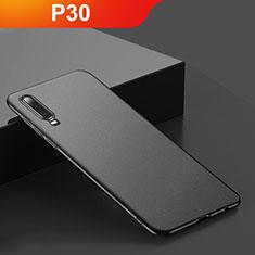 Huawei P30用ハードケース プラスチック 質感もマット M01 ファーウェイ ブラック