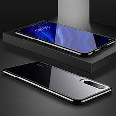 Huawei P30用ケース 高級感 手触り良い アルミメタル 製の金属製 バンパー 鏡面 カバー M02 ファーウェイ ブラック