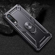 Huawei P30用ハイブリットバンパーケース スタンド プラスチック 兼シリコーン カバー マグネット式 ファーウェイ ブラック