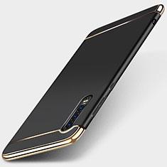 Huawei P30用ケース 高級感 手触り良い メタル兼プラスチック バンパー M03 ファーウェイ ブラック