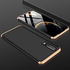 Huawei P30用ハードケース プラスチック 質感もマット 前面と背面 360度 フルカバー ファーウェイ ゴールド・ブラック