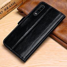 Huawei P30用手帳型 レザーケース スタンド カバー P01 ファーウェイ ブラック