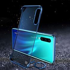 Huawei P30用ハードカバー クリスタル クリア透明 S03 ファーウェイ ネイビー