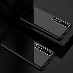 Huawei P30用ハイブリットバンパーケース プラスチック 鏡面 カバー T01 ファーウェイ ブラック