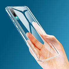 Huawei P30用極薄ソフトケース シリコンケース 耐衝撃 全面保護 クリア透明 K04 ファーウェイ クリア