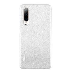 Huawei P30用極薄ソフトケース シリコンケース 耐衝撃 全面保護 クリア透明 S05 ファーウェイ ホワイト
