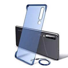 Huawei P30用ハードカバー クリスタル クリア透明 S05 ファーウェイ ネイビー
