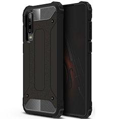 Huawei P30用360度 フルカバー極薄ソフトケース シリコンケース 耐衝撃 全面保護 バンパー C09 ファーウェイ ブラック
