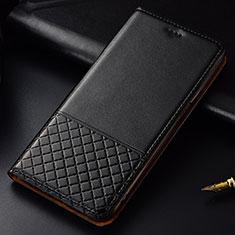 Huawei P30用手帳型 レザーケース スタンド カバー T09 ファーウェイ ブラック