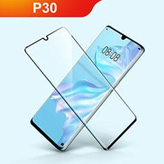 Huawei P30用強化ガラス フル液晶保護フィルム F03 ファーウェイ ブラック