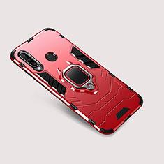 Huawei P30 Lite用ハイブリットバンパーケース スタンド プラスチック 兼シリコーン カバー ファーウェイ レッド