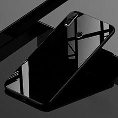 Huawei P30 Lite用ハイブリットバンパーケース プラスチック 鏡面 虹 グラデーション 勾配色 カバー ファーウェイ ブラック