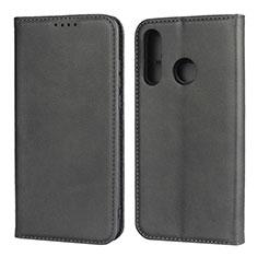 Huawei P30 Lite用手帳型 レザーケース スタンド カバー L06 ファーウェイ ブラック