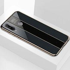 Huawei P30 Lite用ハイブリットバンパーケース プラスチック 鏡面 カバー M01 ファーウェイ ブラック