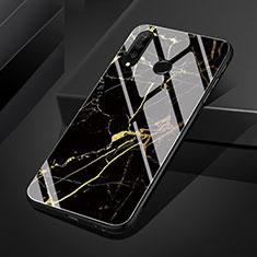 Huawei P30 Lite用ハイブリットバンパーケース プラスチック パターン 鏡面 カバー S01 ファーウェイ ゴールド
