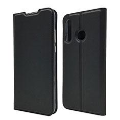Huawei P30 Lite用手帳型 レザーケース スタンド カバー L07 ファーウェイ ブラック