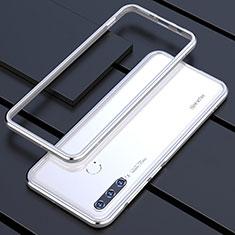 Huawei P30 Lite用ケース 高級感 手触り良い アルミメタル 製の金属製 バンパー カバー ファーウェイ シルバー