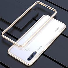 Huawei P30 Lite用ケース 高級感 手触り良い アルミメタル 製の金属製 バンパー カバー ファーウェイ ゴールド