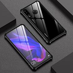 Huawei P30 Lite用ケース 高級感 手触り良い アルミメタル 製の金属製 360度 フルカバーバンパー 鏡面 カバー ファーウェイ ブラック